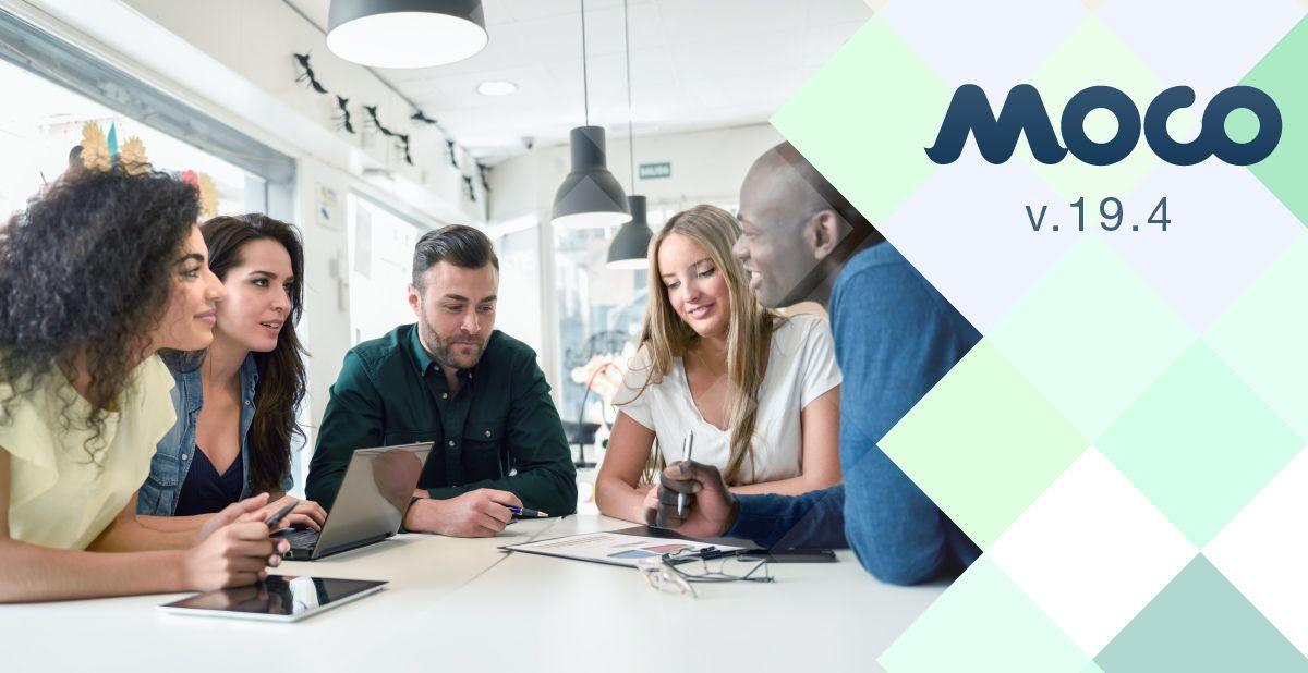 Moco v.19.4 — Новые возможности в модулях Учебный центр и Оценка персонала